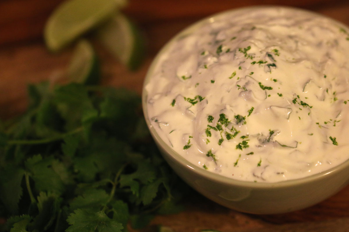 Cilantro-Lime Sour Cream