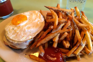 The Croque Madame with frites from Mominette