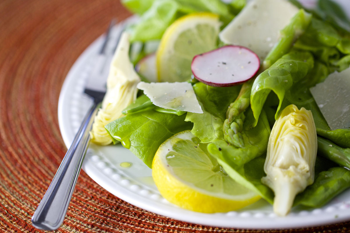 Spring Salad with Champagne Vinaigrette