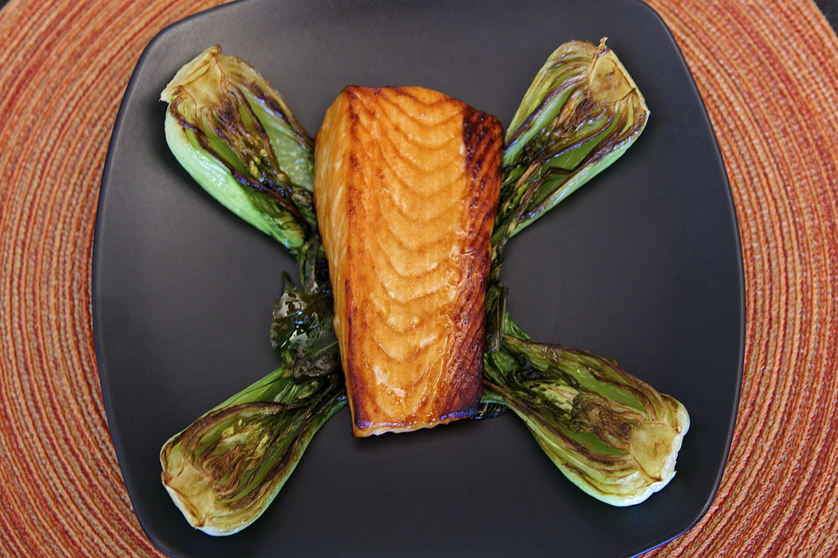Miso Glazed Salmon with Bok Choy