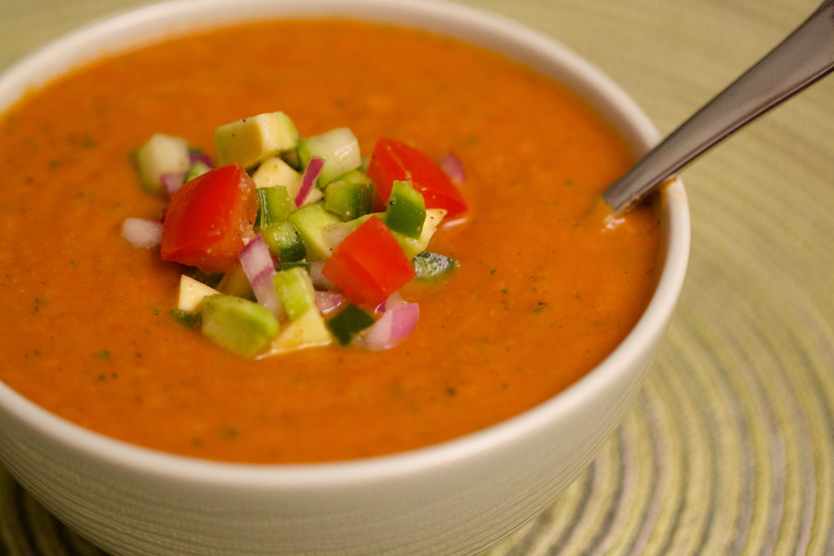roasted veggie gazpacho