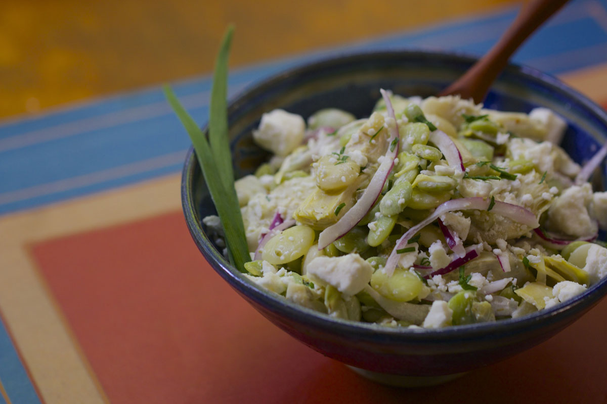Butter Bean Salad with Artichoke Hearts and Feta