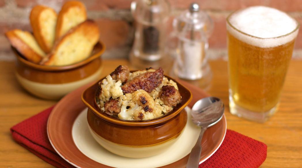 Sausage & Cauliflower Fricasse
