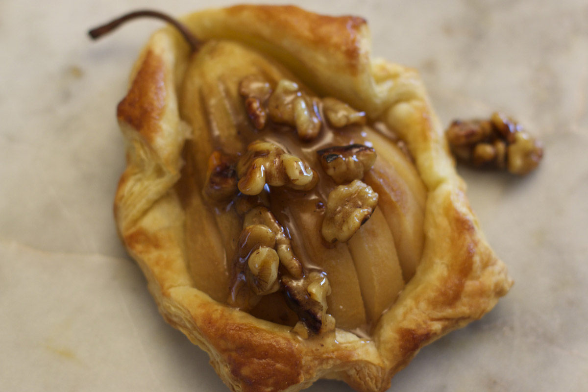 Pear Tartlets with Maple Walnuts