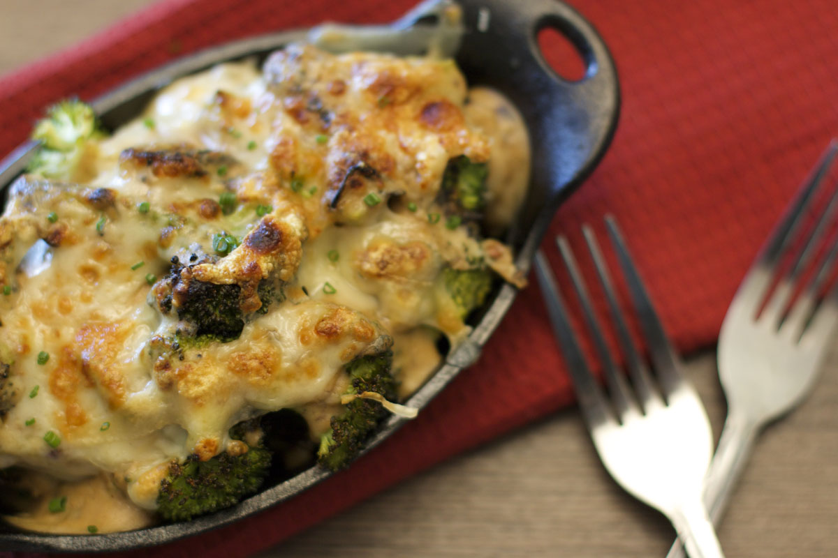 Grilled Broccoli Gratin
