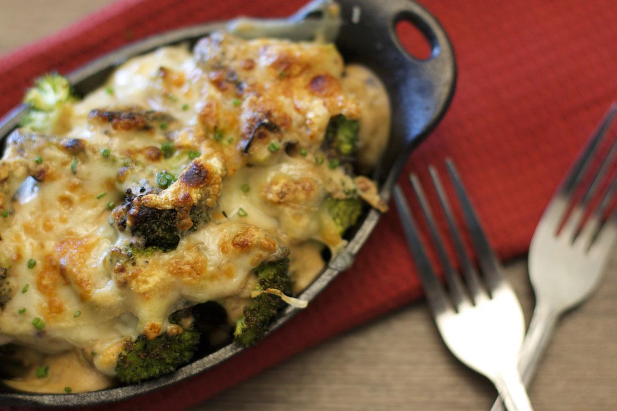 Grilled Broccoli Gratin