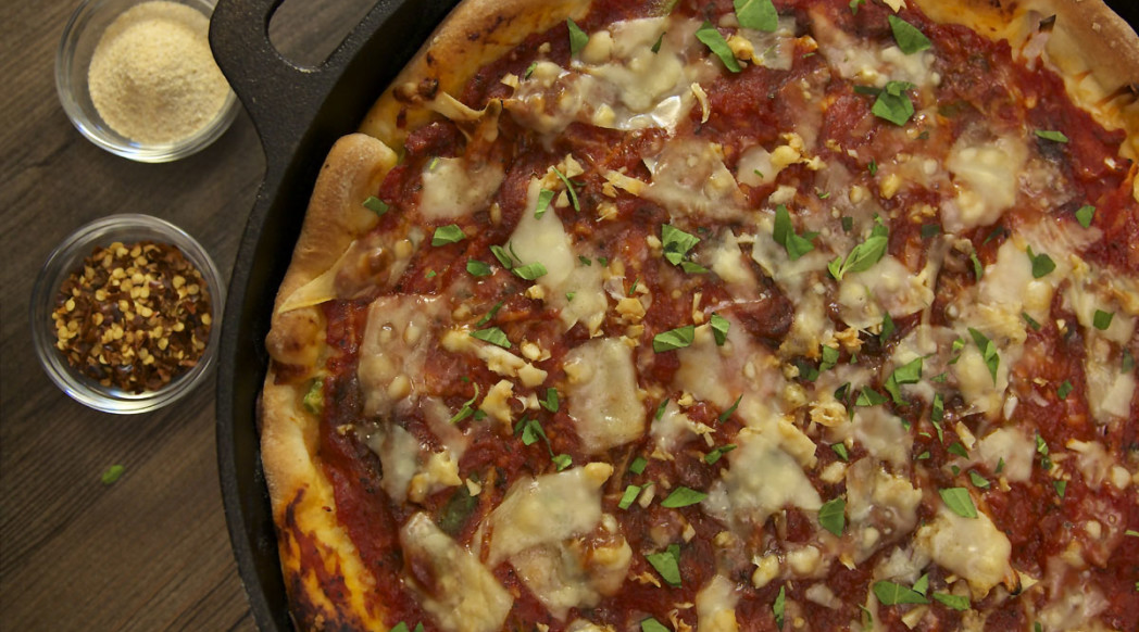 Deep Dish Skillet Pizza
