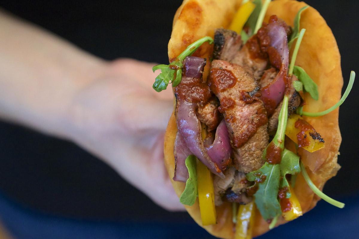 Navajo Tacos with Santa Fe Sauce