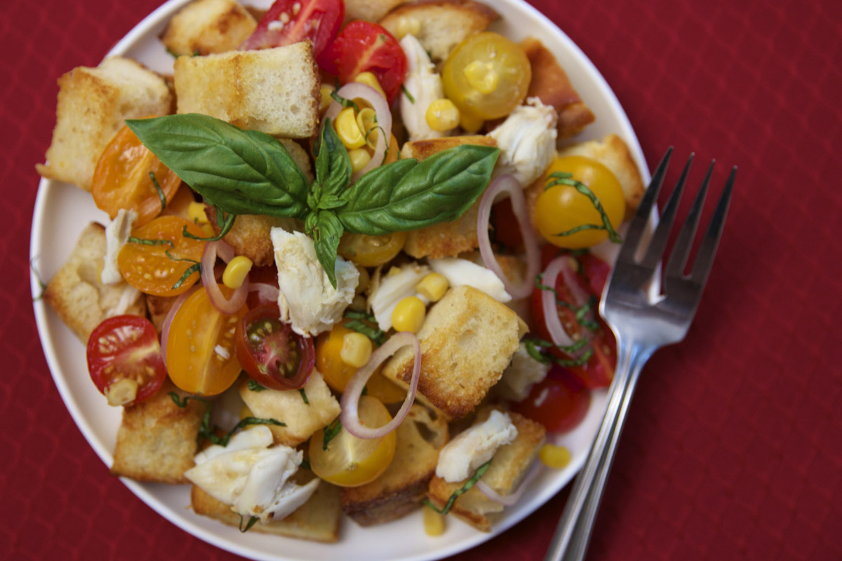 Sourdough Panzanella with Crab